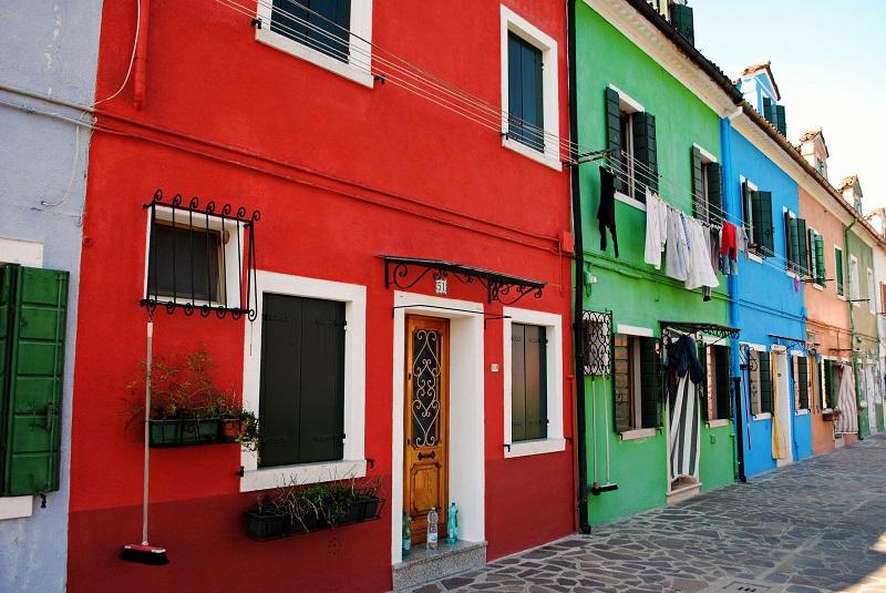 Isola Burano Venezia case colorate (1)